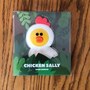Accessories - Line friends Chicken Sally hand mirror💕